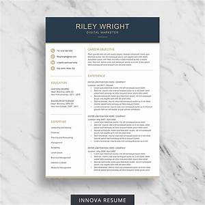 10 best etsy resume templates graphicadi With etsy resume template