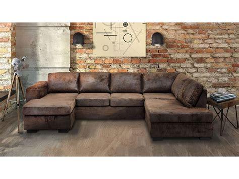 canapé d angle tissu marron canapé angle gauche panoramique 8 places en tissu