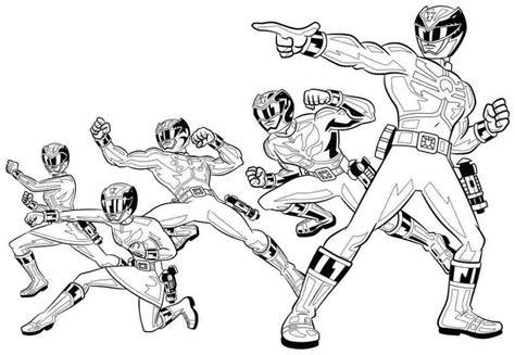 Power Ranger Coloring Pages Printable Democraciaejustica