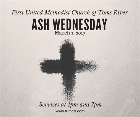 Ash Wednesday Service First United Methodist Church of