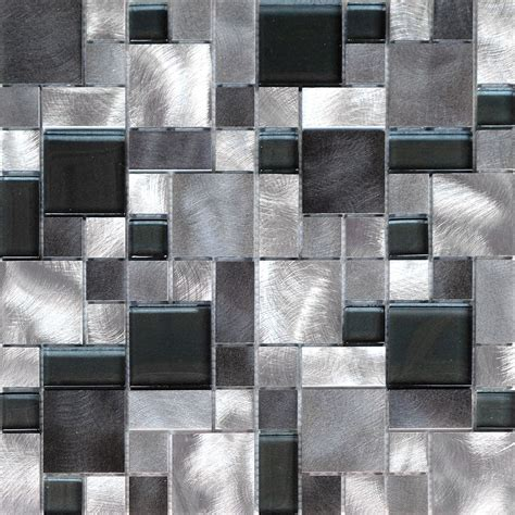 kitchen wall tile design patterns 10sf black gray pattern aluminum stainless mosaic tile 8712
