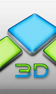 Awesome 3D Cube logo PSD. 3D Cube green blue logo PSD file ...