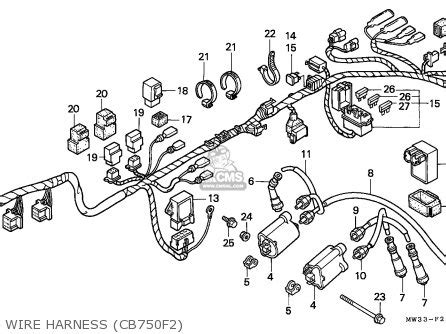 Cb750 93 Wiring Diagram by Honda Cb750f2 Seven Fifty 1992 N Germany Kph Parts