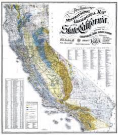 Vintage California Geology Map