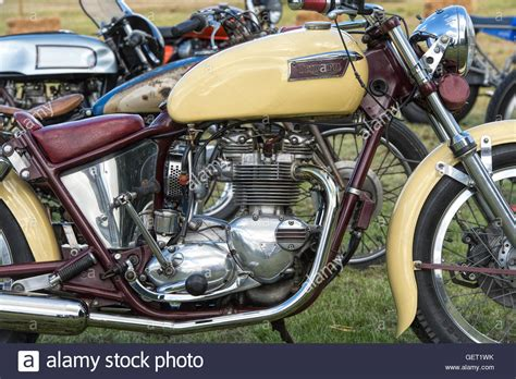 Custom Triumph Motorcycle At Malle, The Mile Racing Event