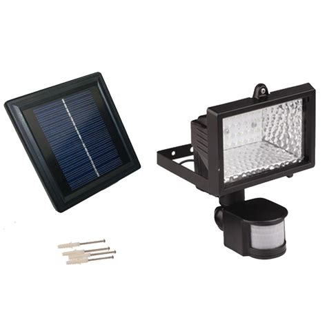solar powered motion sensor light 28 led