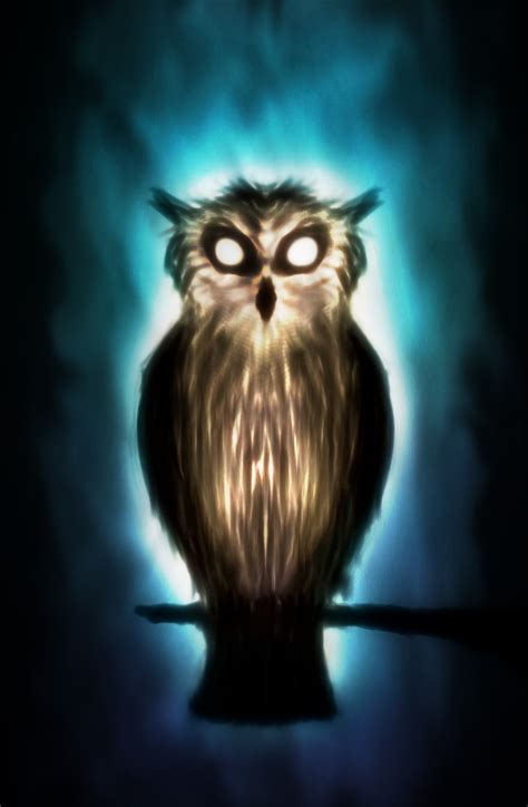 Creepy Owl Wallpapers by Ghost Owl By Ark4n On Deviantart