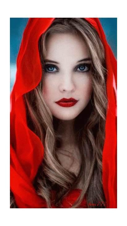 Hood Riding Makeup Portrait Animation Decent Lips