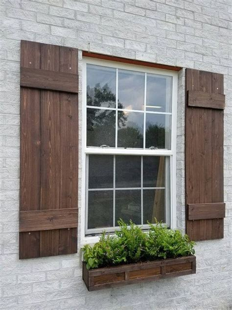 Board And Batten  Wood Shutters, Board And Batten Cedar