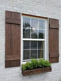 wood exterior shutters BOARD AND BATTEN - Wood Shutters, Board and Batten Cedar ...