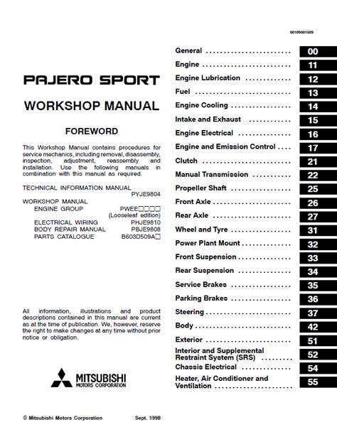car repair manual download 2003 mitsubishi challenger instrument cluster mitsubishi challenger montero pajero sport workshop manual pdf
