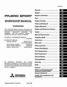 Mitsubishi Challenger    Montero    Pajero Sport Workshop Manual Pdf