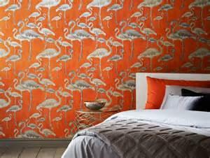 designer wallpaper flamingo calypso designer wallpaper