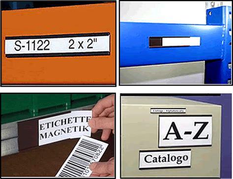 etichette magnetiche per scaffali porta etichette magnetiche a c in rotolo