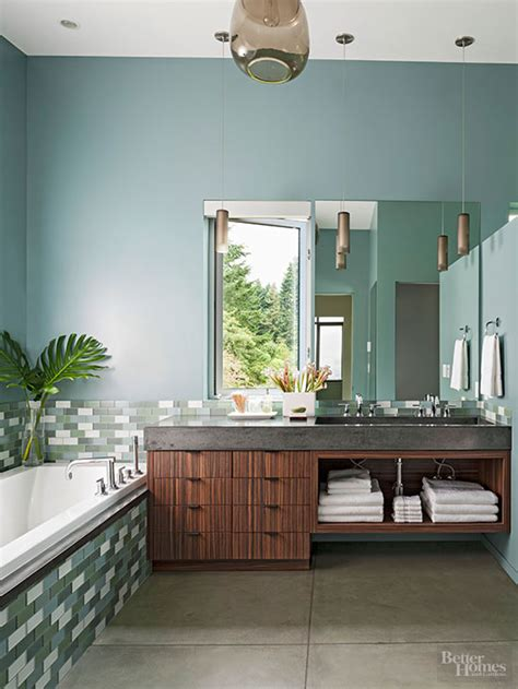 Spa Bathroom Color Schemes by Baths With Stylish Color Combinations Better Homes Gardens