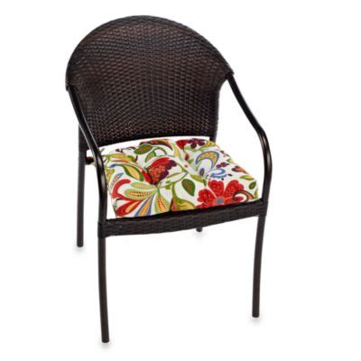 buy indoor chair cushions with ties from bed bath beyond