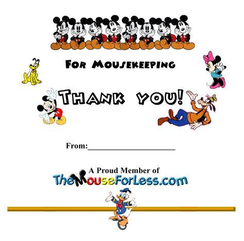 disney mousekeeping envelopes   mouse