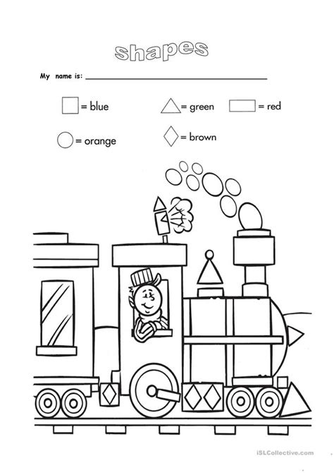 shapes and colours worksheet free esl printable