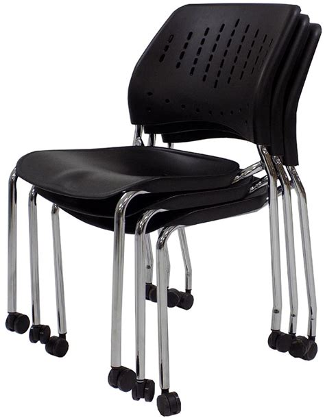 300 lb capacity mobile stacking guest chair