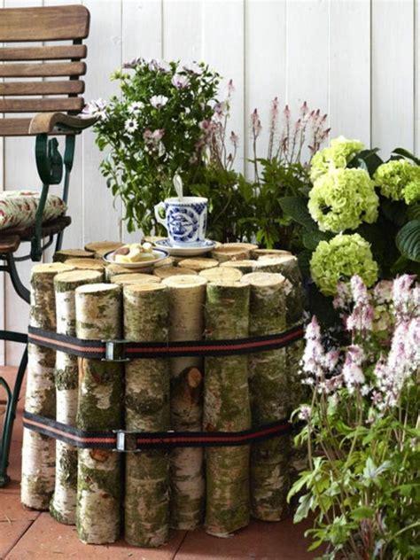 ideen für den garten kreativ interessante dekoration f 252 r den garten nesttisch selber