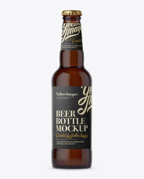 Try another beer bottle mockup here! Download Psd Mockup 330Ml Amber Glass Beer Beer Bottle ...