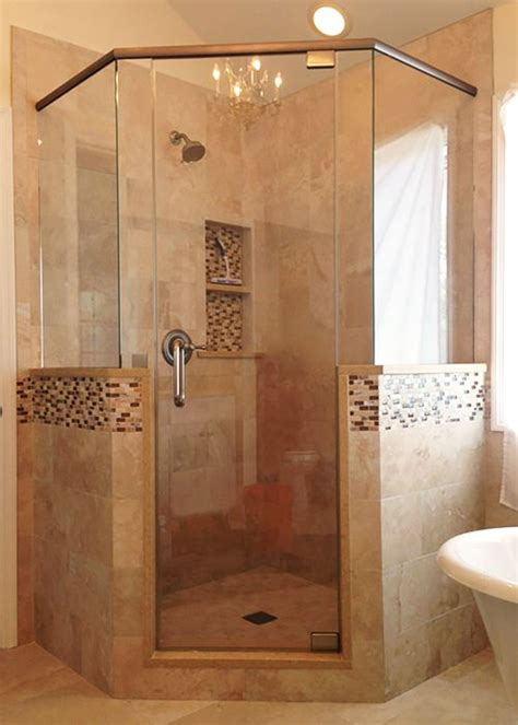 Frameless Neo Angle Shower Doors by Neo Angle Shower Doors Become More And More Popular