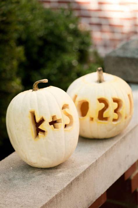 pumpkin wedding pumpkins carving fall carvings decor date elegant sister initials initial engagement discover
