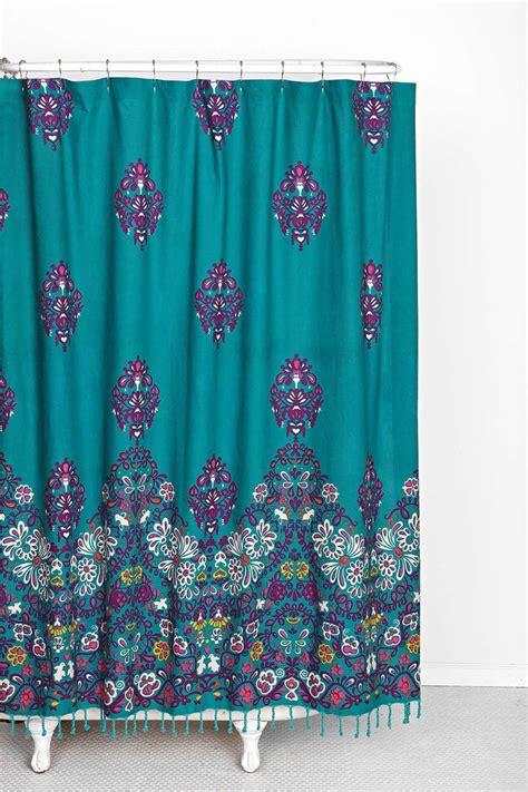 plum bow blomma shower curtain