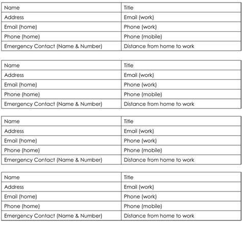 customer contact list templates  word  excel