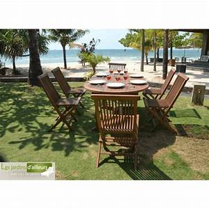 Salon De Jardin En Teck En Promotion : salon de jardin en teck 6 chaises en promotion mod le new york ~ Teatrodelosmanantiales.com Idées de Décoration