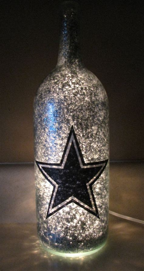 football team decorative lighted wine bottle by