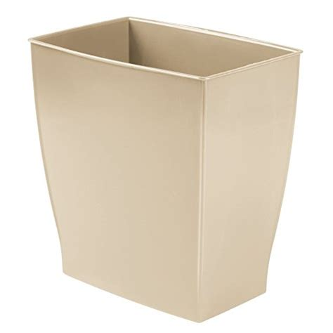 small rectangular bathroom trash can interdesign mono rectangular wastebasket trash can for