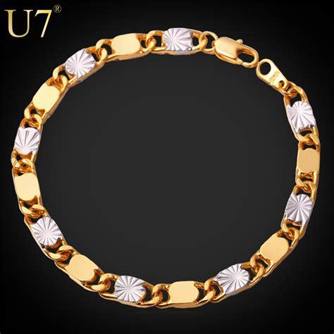 aliexpress buy new arrival 18k real gold plated aliexpress buy two tone gold bracelet men jewelry