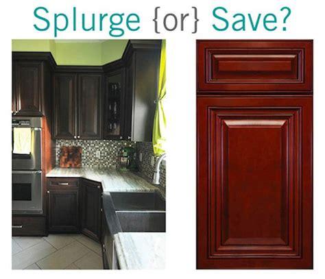 cherry finish kitchen cabinets splurge or save cherry kitchen cabinets the 5371