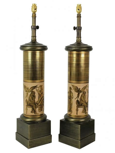 large italian column ls by pietro fornasetti set of 2