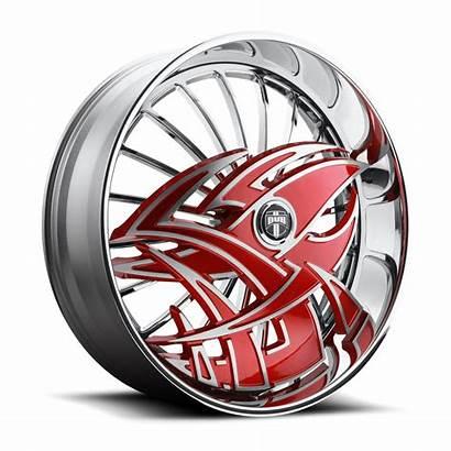 Dub Razz Wheels Chrome S607 Skirts Rims