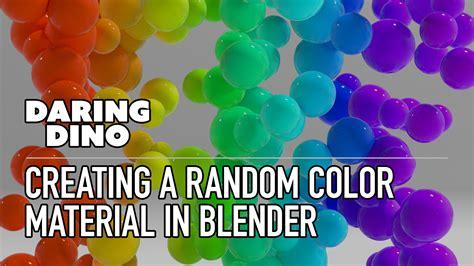 random color tutorial creating a random color material in blender