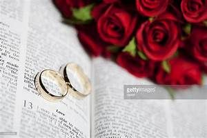wedding rings and bible stock photo getty images With bible wedding rings