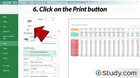 Printing In Excel How To Configure Workbooks To Print  Video & Lesson Transcript Studycom