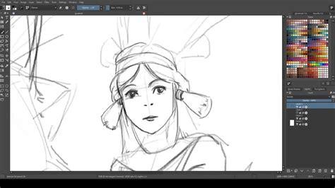 speed drawing  krita youtube