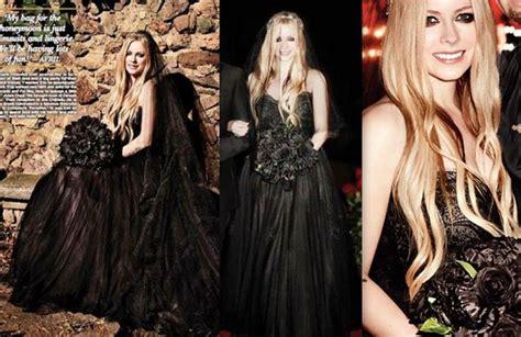 Avril Lavigne's Black Wedding Gown