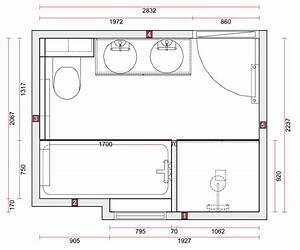 plan salle de bain 5m2 2 salle de bain douche et With salle de bain douche et baignoire plan