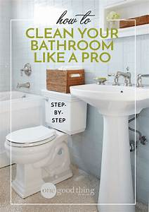 How to clean your bathroom like a pro one good thing by for Can you put a tv in the bathroom