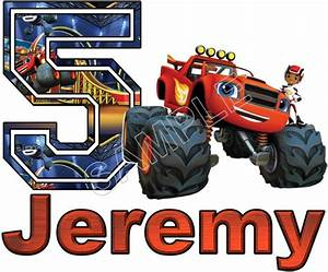 Blaze And The Monster Machines Custom Personalized T Shirt