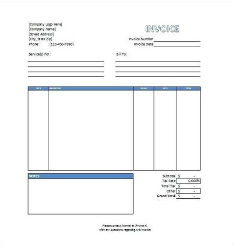 invoice template professional services professional