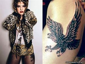 Juliet Simms Eagle Tattoo | Steal Her Style