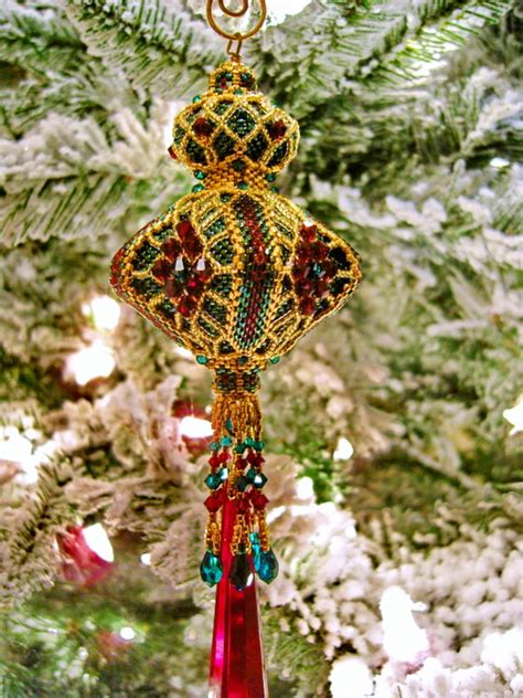 amazing beadwoven christmas ornaments by christine heidema