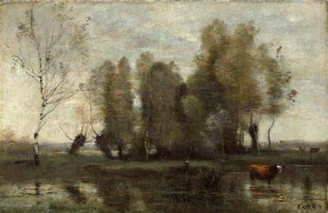trees   swamp jean baptiste camille corot hermitage