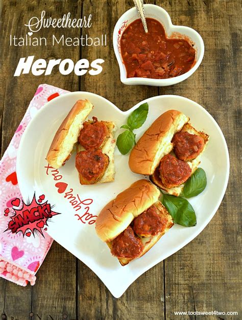 sweetheart italian meatball heroes toot sweet