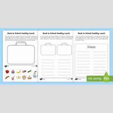 Healthy Lunch Box Differentiated Worksheet  Worksheets  Healthy Eating